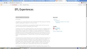 ELT Experiences